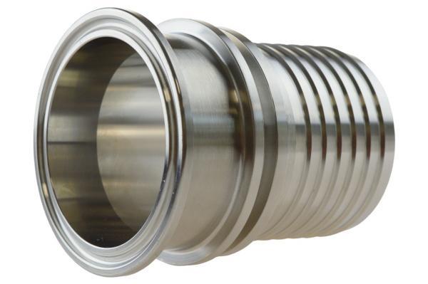 Clamp Kupplung mit Rillenstutzen und Sicherungsbund, DIN 32676