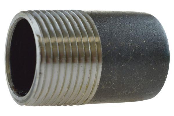 Anschweißnippel Nr. 23B mit Außengewinde, Stahl schwarz