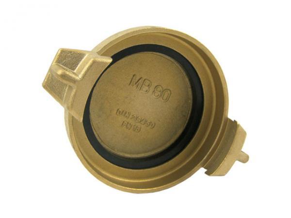 TW Blindkappe Typ MB, Messing, EN 14420-6