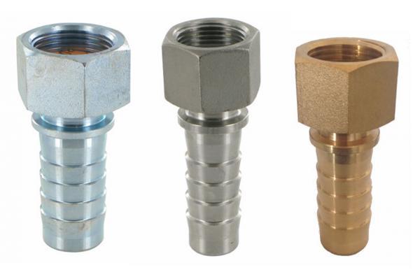 Dampfschlaucharmatur mit Innengewinde und Sicherungsbund, EN 14423