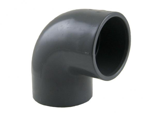 PVC-U Winkel 90° mit Klebemuffen