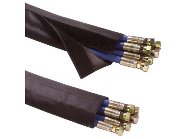 Gewebter Schutzschlauch mit Klettverschluss