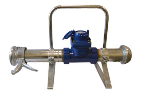 """Wasserzähler TWP 3"""" mit Tragegestell, System Perrot"""
