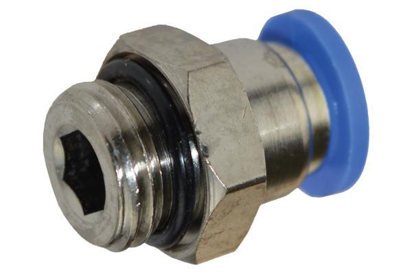 Steckverschraubung mit zylindrischem Außengewinde, Pneumatik IQS, Standard