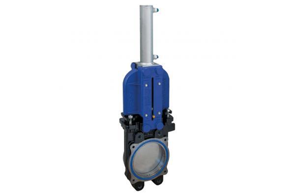 RIV (GLADIO) Plattenschieber mit doppelwirkendem hydraulischen Zylinder